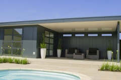 Hermes tuinhuis met overkapping - Poolhouse