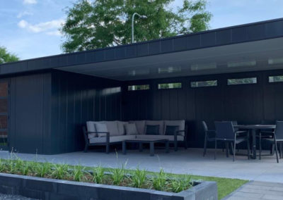 Tuinhuis met overkapping - project in limburg - Iso-bella.nl