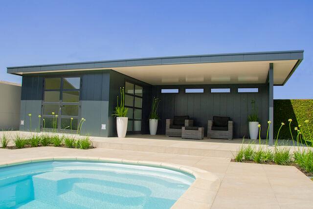 Hermes poolhouse met overkapping en zwembad