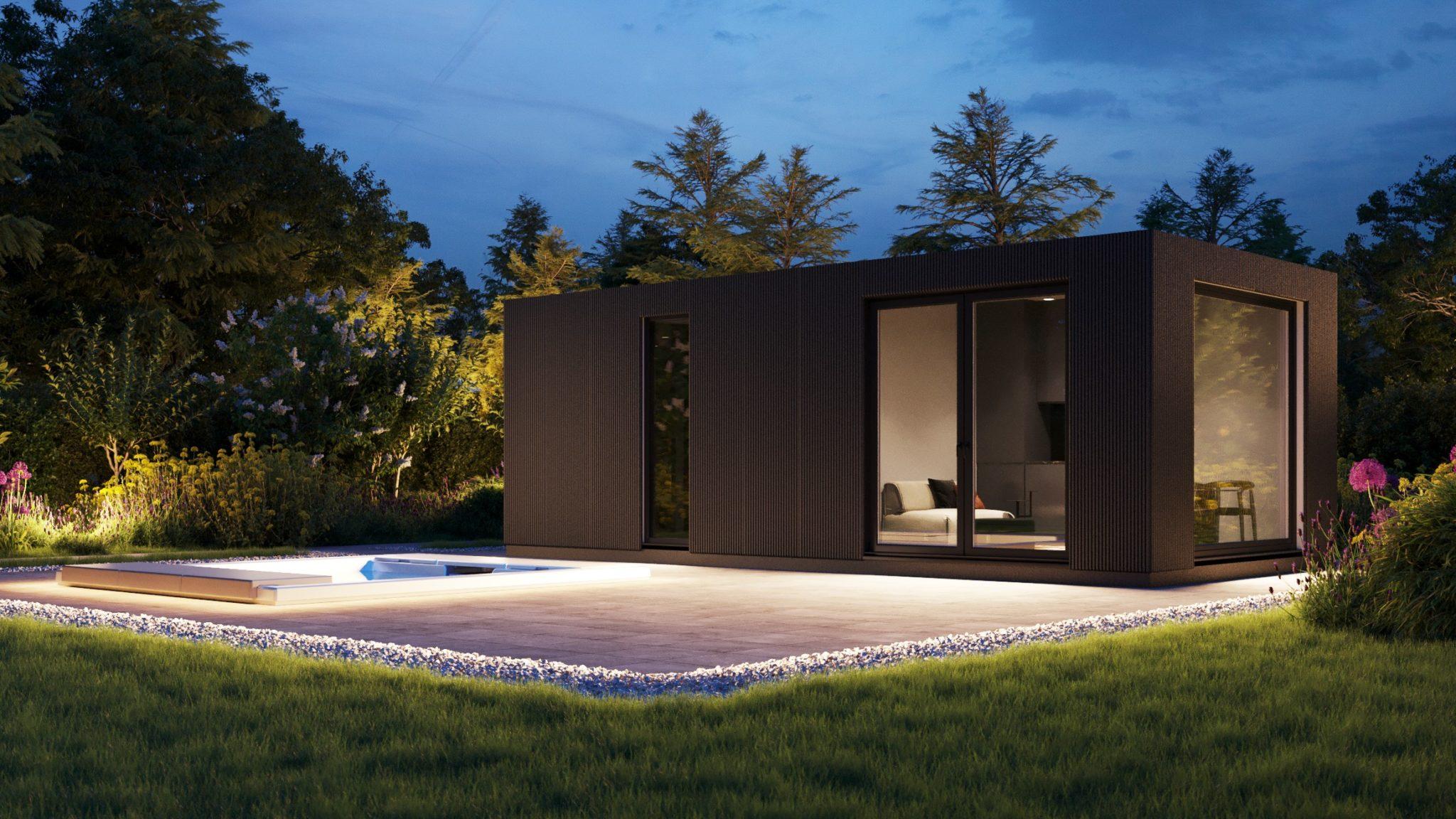 Iso bella vivlux poolhouse bij nacht