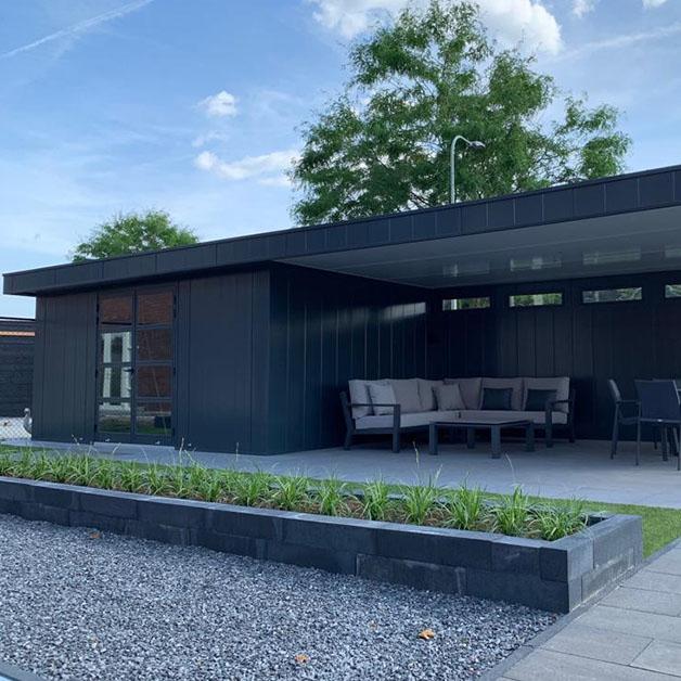 Isobella project Anja van lier tuinhuis met overkapping