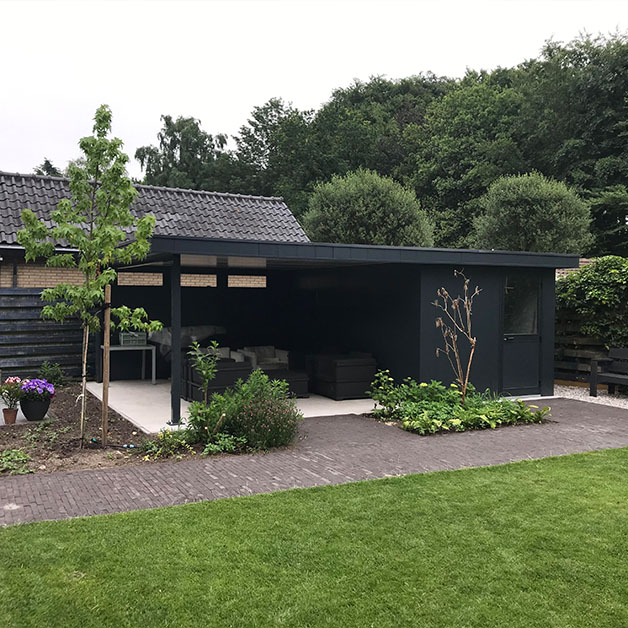 Isobella project rob oostrom tuinberging met overkapping